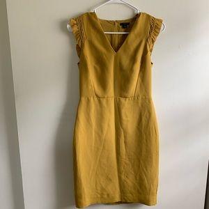 Ann Taylor   Mustard Dress